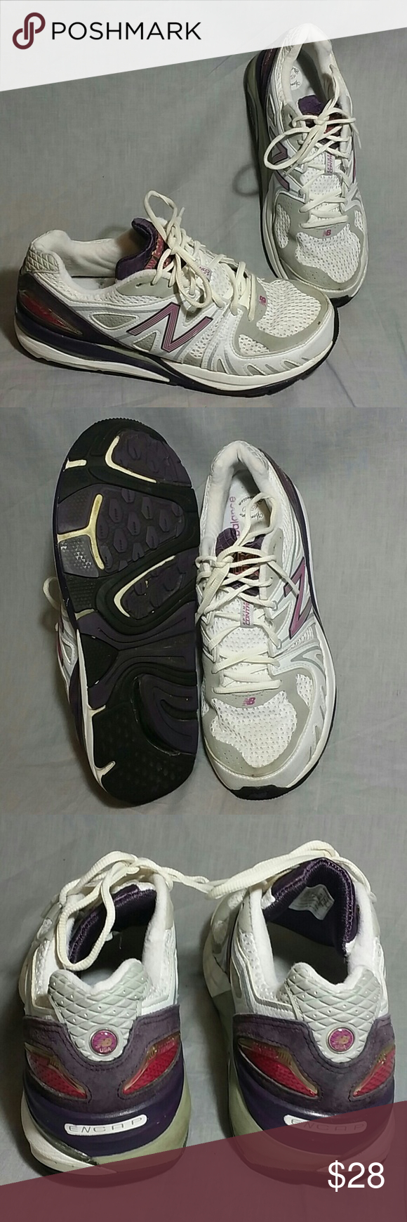 New balance ENCAP Shoes 11 M Running Lace ups Women's new balance ENCAP heritage 1540 shoes white/gray/purple. MADE IN USA  item is in a good condition. New Balance Shoes Sneakers