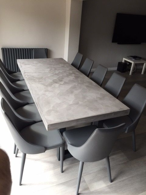 2 4 Metre Polished Concrete Dining Table Dining Table Marble