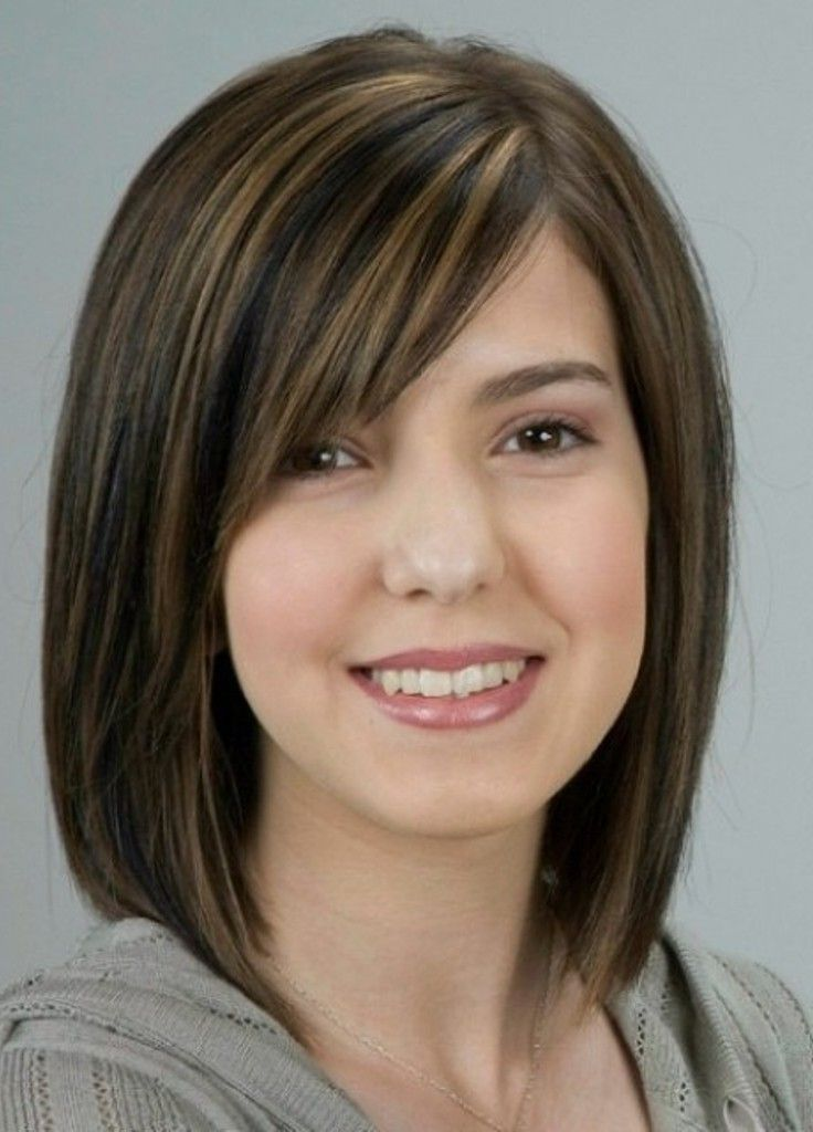 Medium Hairstyles For Round Faces Impressive Mediumhairstylesforthickhairroundfacelonghaircuts  Hair