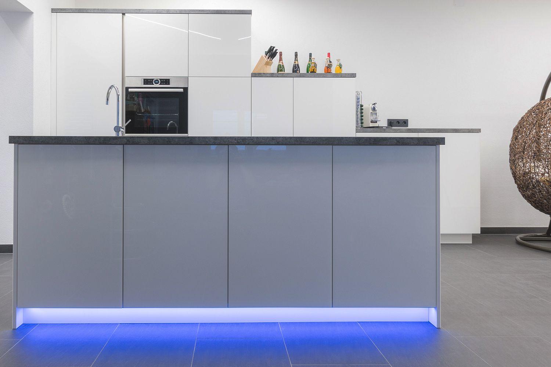 Ambientebeleuchtung In Der Küche. #Reprofil #Profil #LED #Aufbau #Küche #