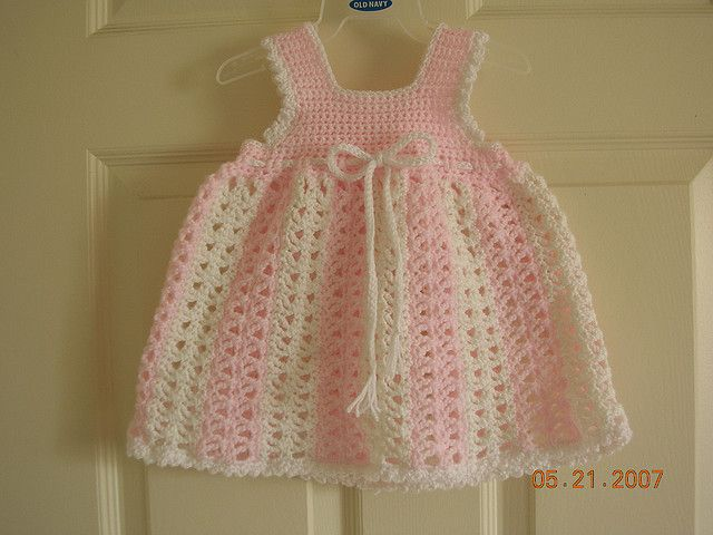 Crochet Baby Girl Dress Free Pattern | Knit and Crochet | Pinterest ...