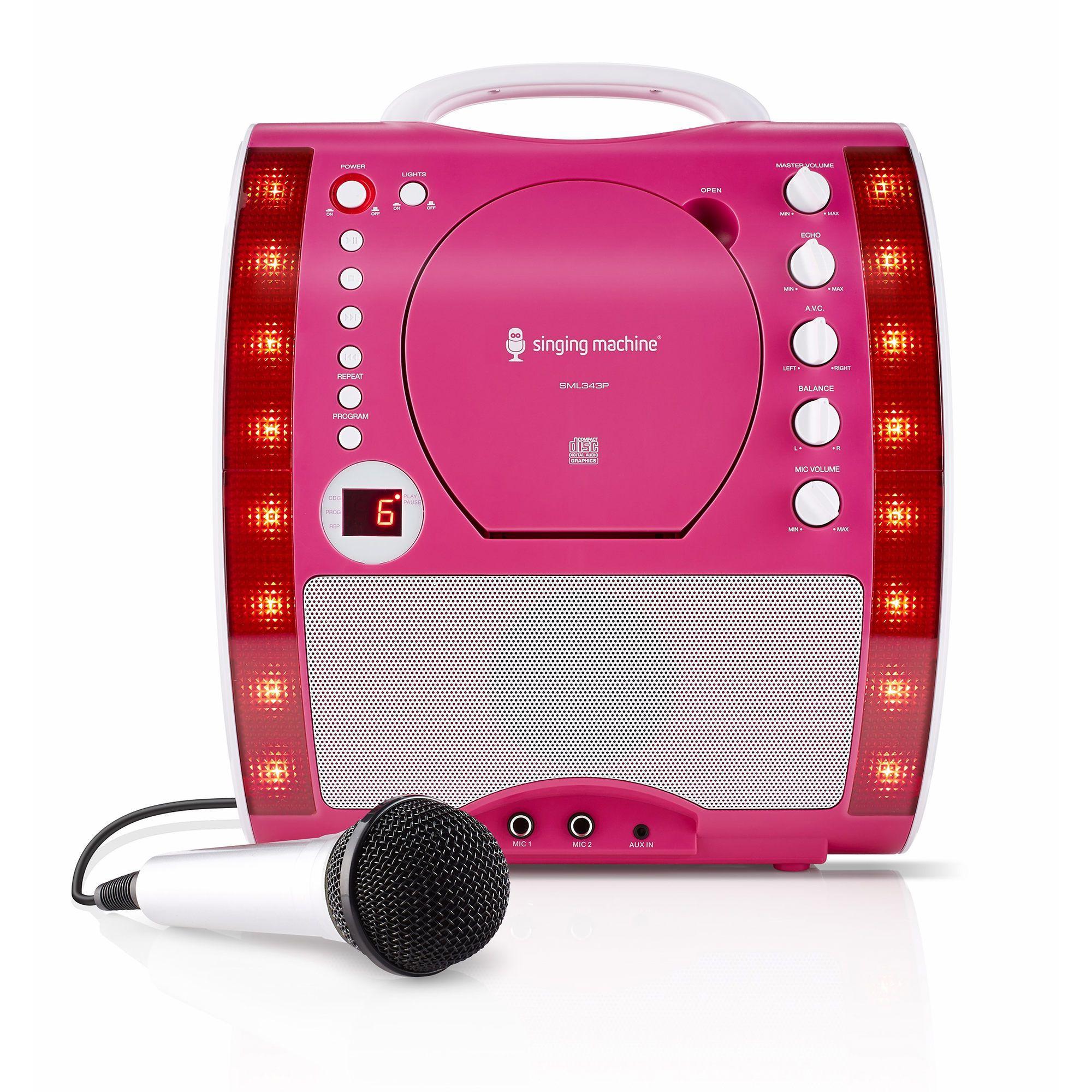 Singing Machine Classic Portable Karaoke System with LED ...
