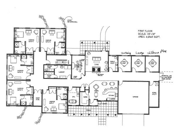 Big home blueprints open floor plans from for Big ranch house plans