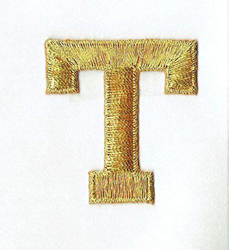 Alphabet Letter  T  Color Gold   Block Style  Iron   Https