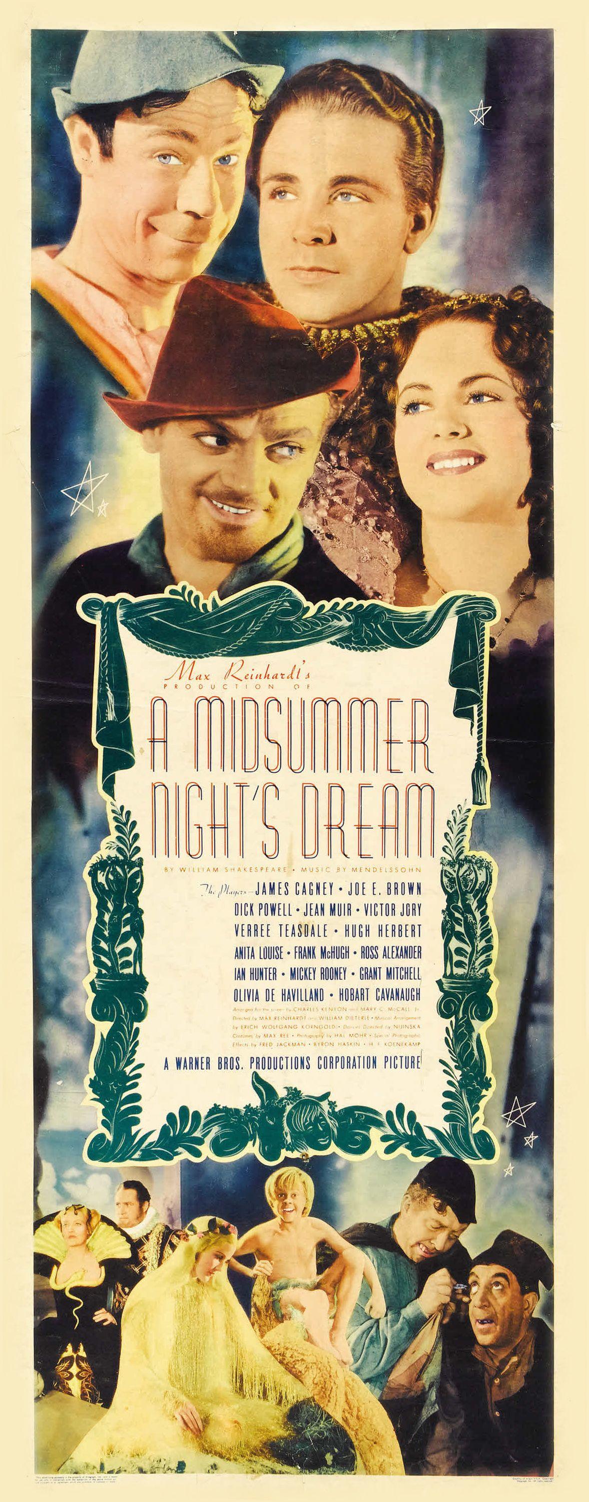 Poster - A Midsummer Night's Dream (1935) | Midsummer nights dream ...