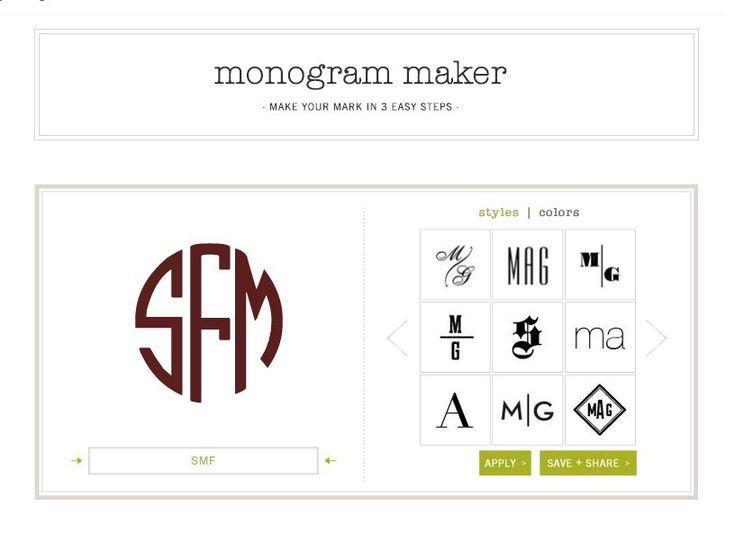 6 Free Monogram Makers And Generators Free Monogram Generator Monogram Generator Monogram Maker