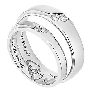 Elegant Commitment ct White Gold Diamond Set Wedding Ring Set Product number