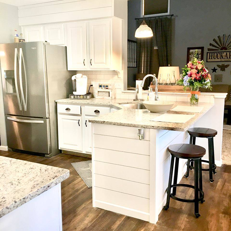 Shiplap under peninsula sides ️ Kitchen remodel, All