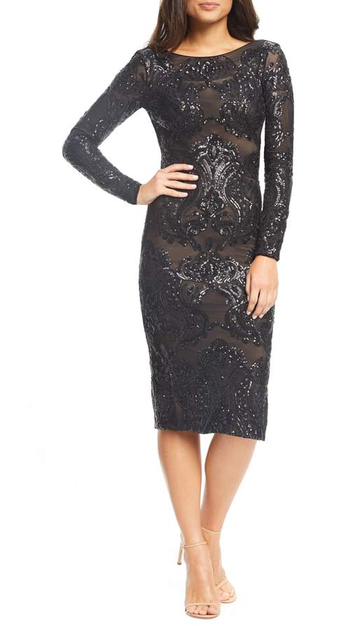 1ca7ff5aab5b Dress the Population Emery Sequin Sheath Dress | Products in 2019 ...