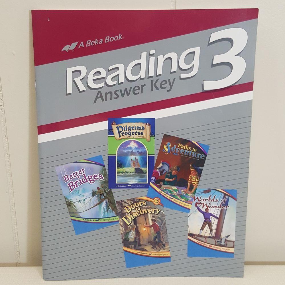 ABeka Reading 3 Answer Key Book Homeschool A Beka 3rd Grade