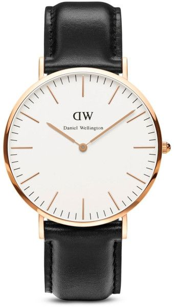 Daniel Wellington Classic Sheffield Watch, 40Mm in Gold for Men (Rose Gold/Black)