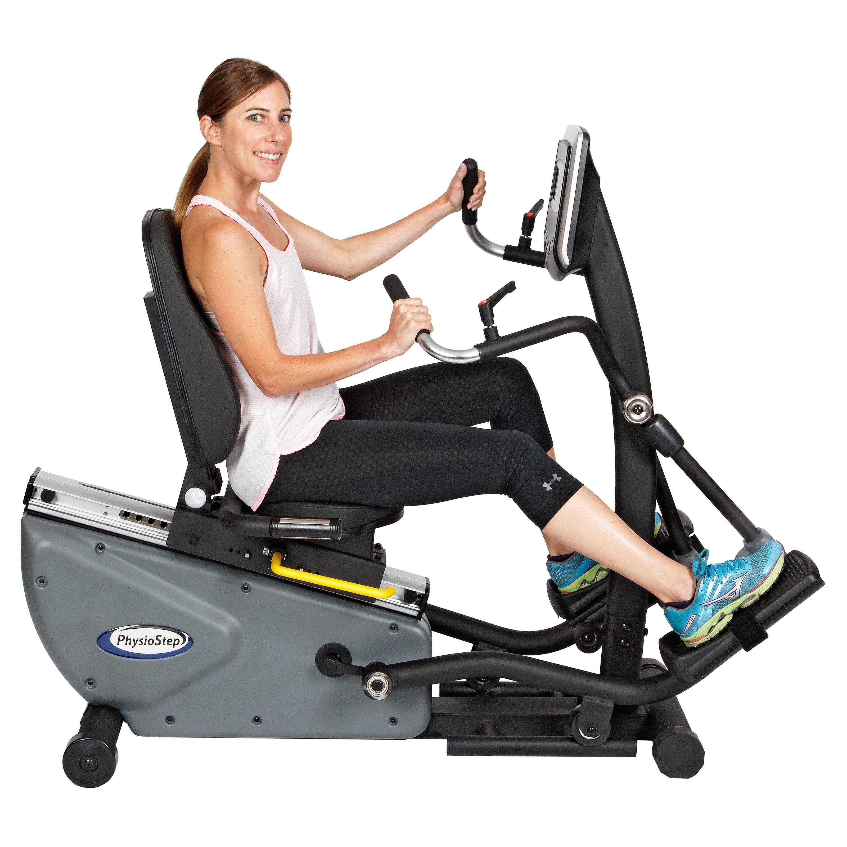 Hci Fitness Rxt 300 Physiostep Hxt Recumbent Semi Elliptical From Hayneedle Com Elliptical Cross Trainer No Equipment Workout Exercise Bikes