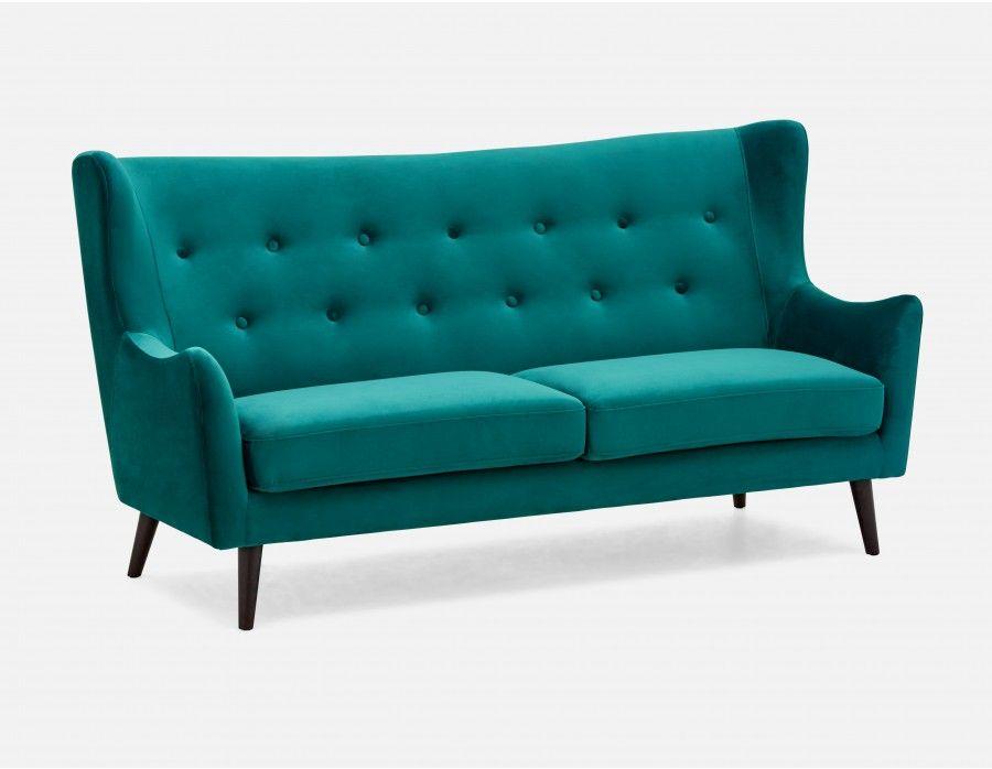 Alice 551 3 Seater Wingback Sofa Green Depth 34 5 Width 79 Height 41 Wingback Sofa Sofa Modern Furniture Living Room