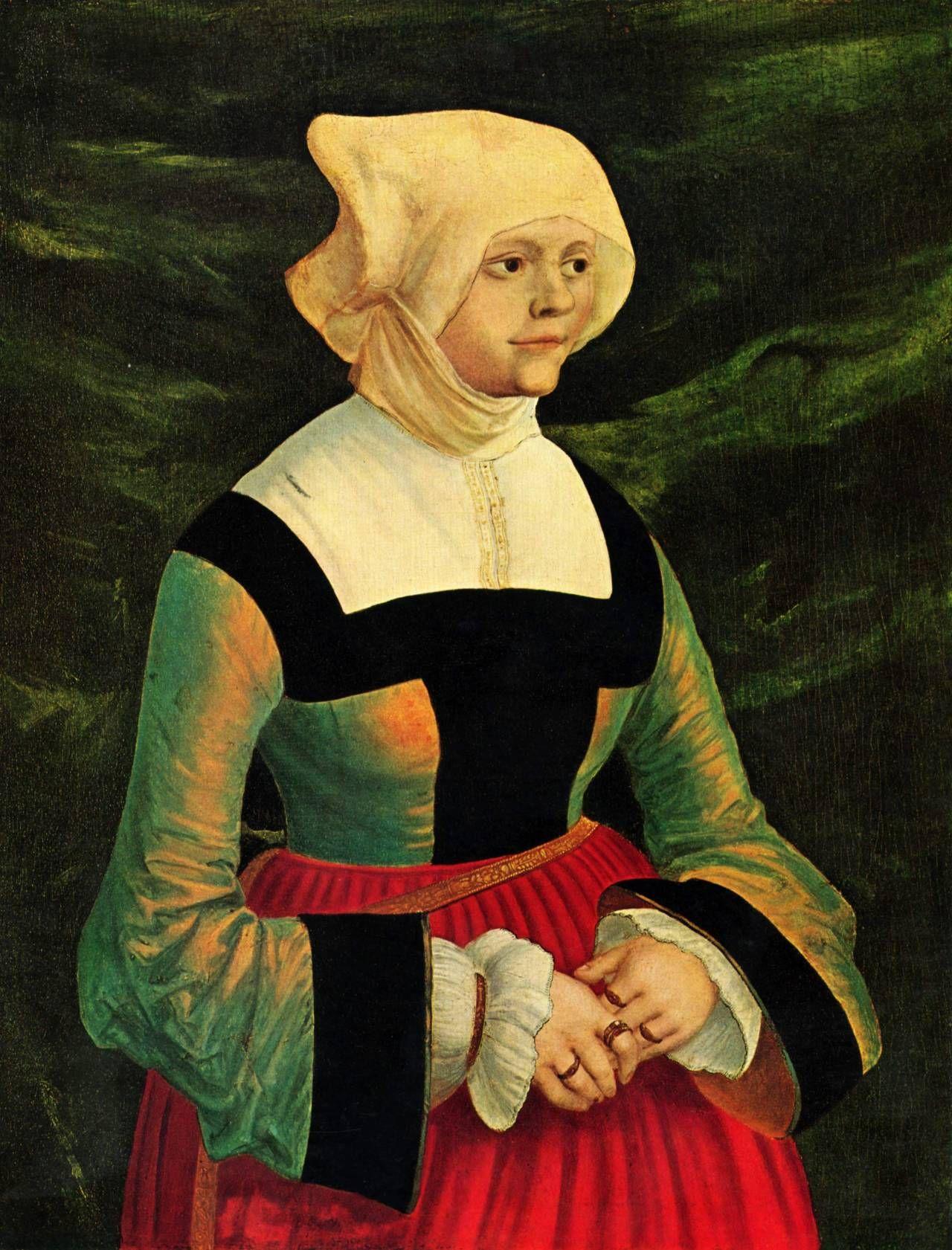 History of fashion — 1525-1530 Albrecht Altdorfer - Portrait of a woman