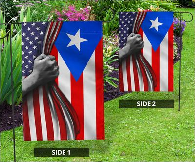 Puerto Rican And American Flag In 2020 American Flag Puerto Ricans Puerto Rican Flag