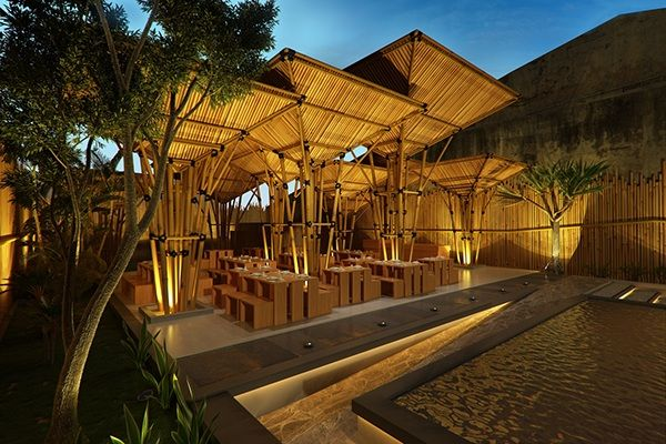 Bamboo Resto On Behance With Images Urban Architecture