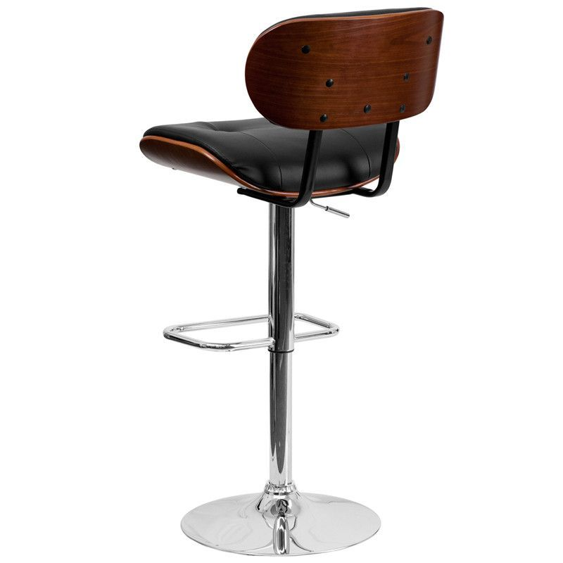 Astonishing Flash Furniture Walnut Bentwood Adjustable Height Barstool Pabps2019 Chair Design Images Pabps2019Com