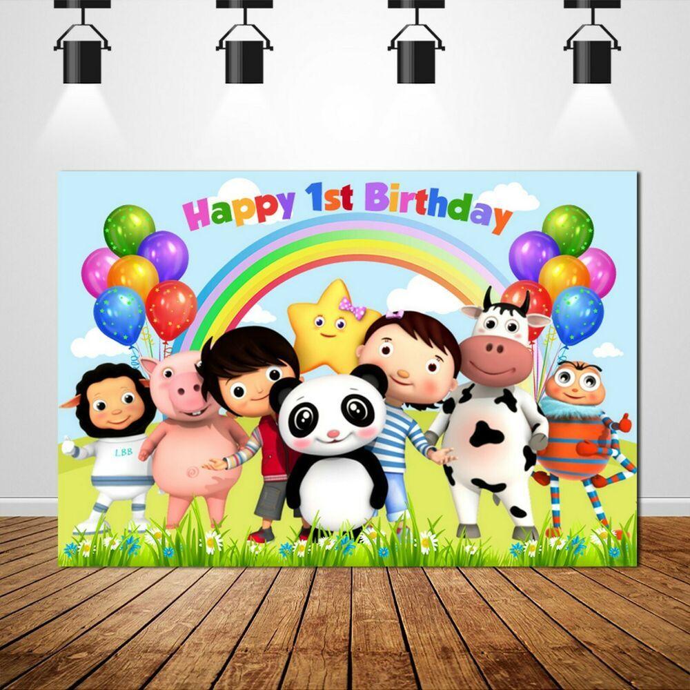 Pin On Little Baby Bum Boys Cartoon Backdrops Birthday Party