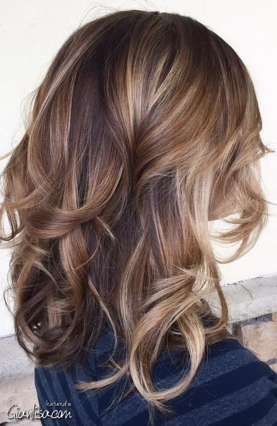 Brown Caramel Balayage Blonde Mixed Hair Color Ideas