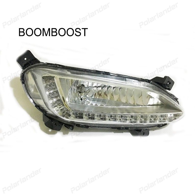 Boomboost 2 Pcs Auto Parts Drl Led Daytime Running Lights For H Yundai Ix45 S Anta Fe One Hole 2013 2015 Car Styli Running Lights Car Headlight Bulbs 2015 Cars