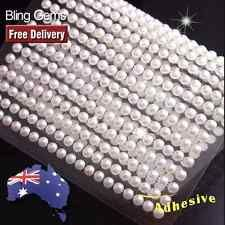560-750pcs 3mm-4mm Blanco Marfil Perlas Joyas Autoadhesivas pegatina En Cristales