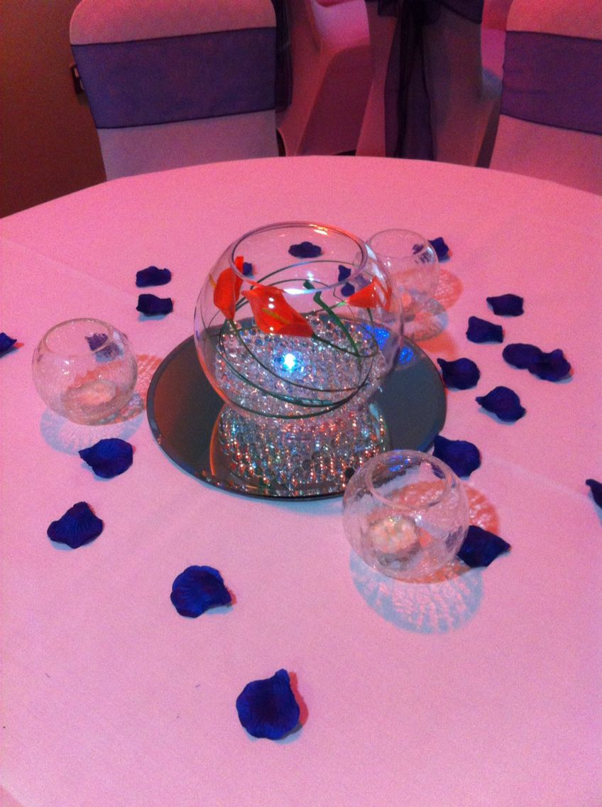 Navy And Orange Table Decorations For Uk Reception Real Life