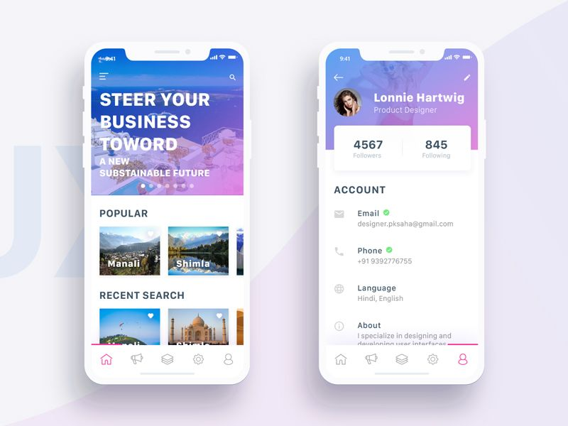 Awesome Rebound Tourist Guide And Profile Iphone X Screen Dribble Interior Design Ideas Jittwwsoteloinfo