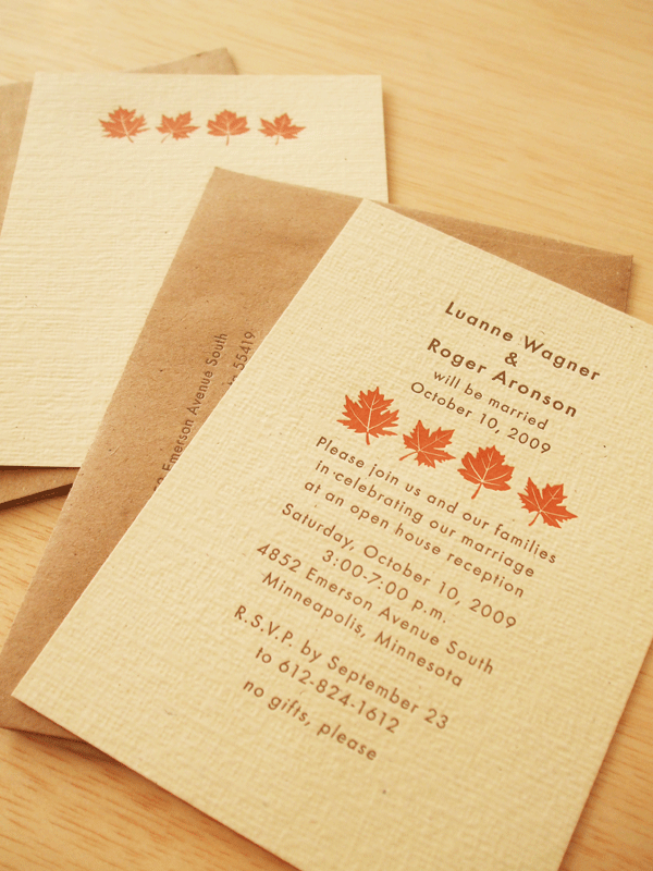 17 Best images about Invitaciones – Fall Invitations for Weddings