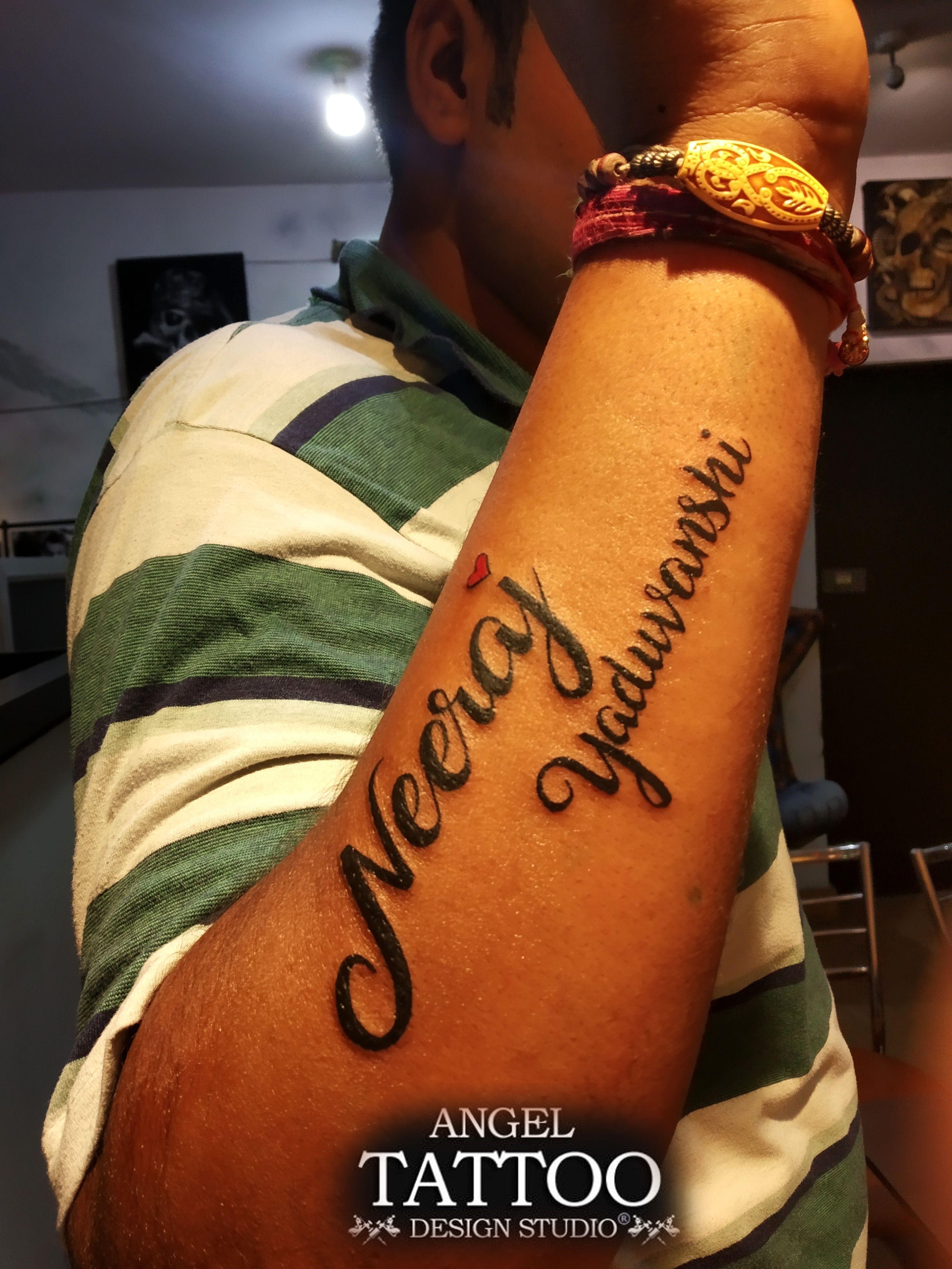 d3f286558 Neeraj name tattoo : made at Angel Tattoo Design Studio #name tattoo  #neeraj #neeraj-name-tattoo