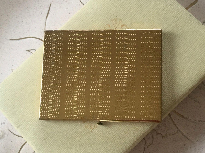 Vintage Gold Tone Cigarette Case Business Card Case Rex Fifth Avenue ...