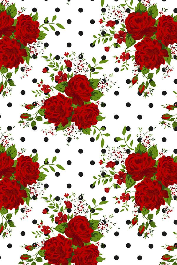 Colorful Fabrics Digitally Printed By Spoonflower Red Rose Patern Flower Background Wallpaper Red Roses Wallpaper Flower Wallpaper