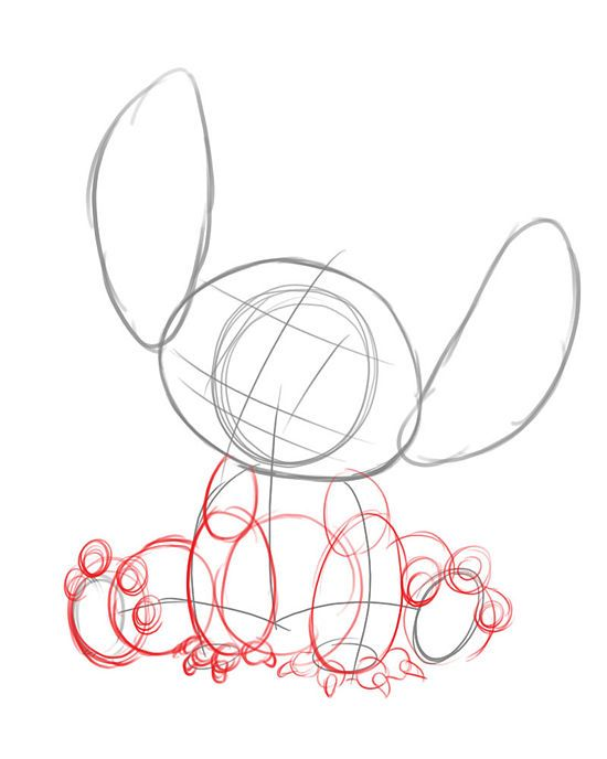 How to draw stitch from lilo and stitch 7 steps with for Awesome drawings step by step