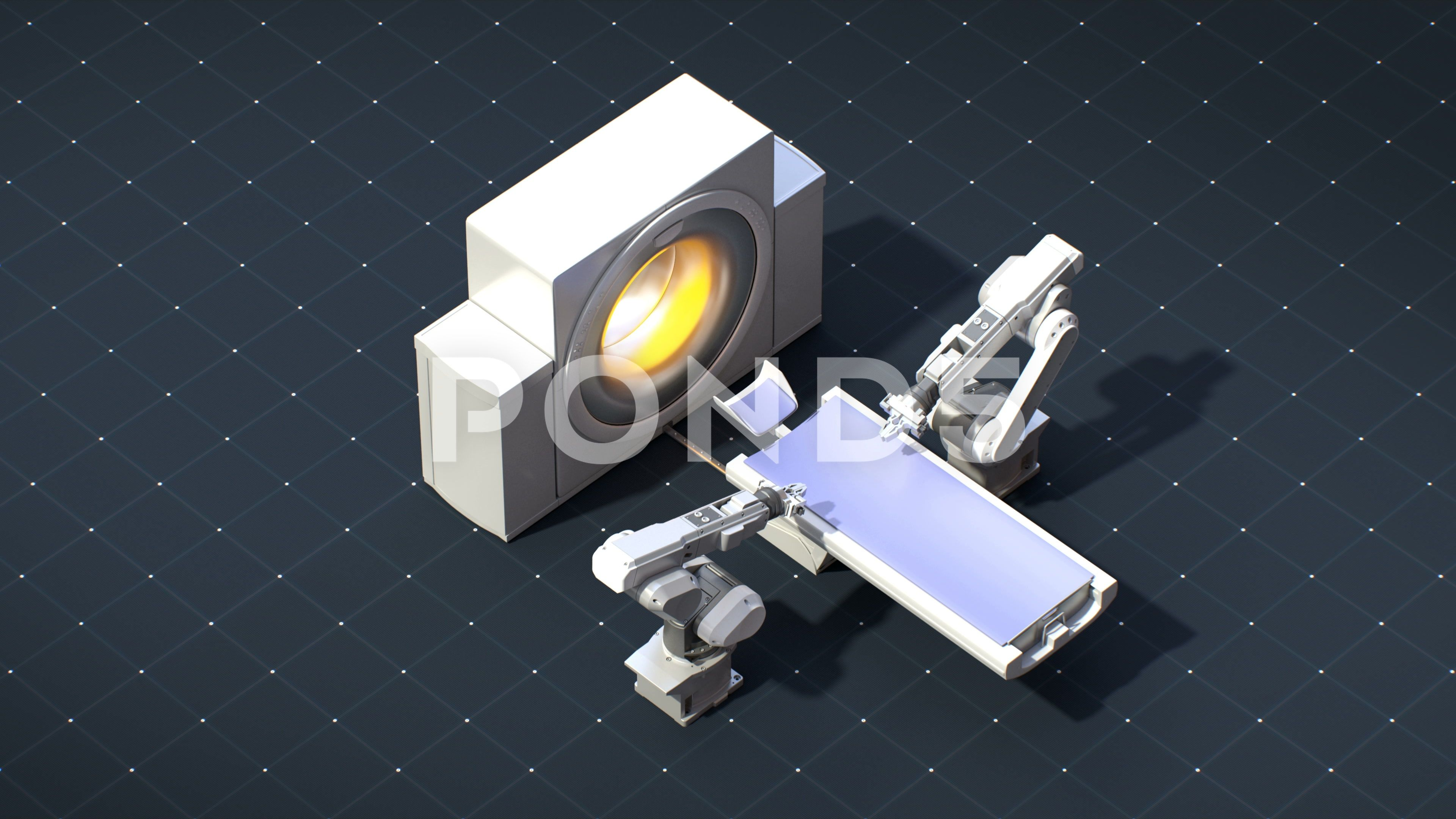 Robot surgery with MRI scanner, future medical technology