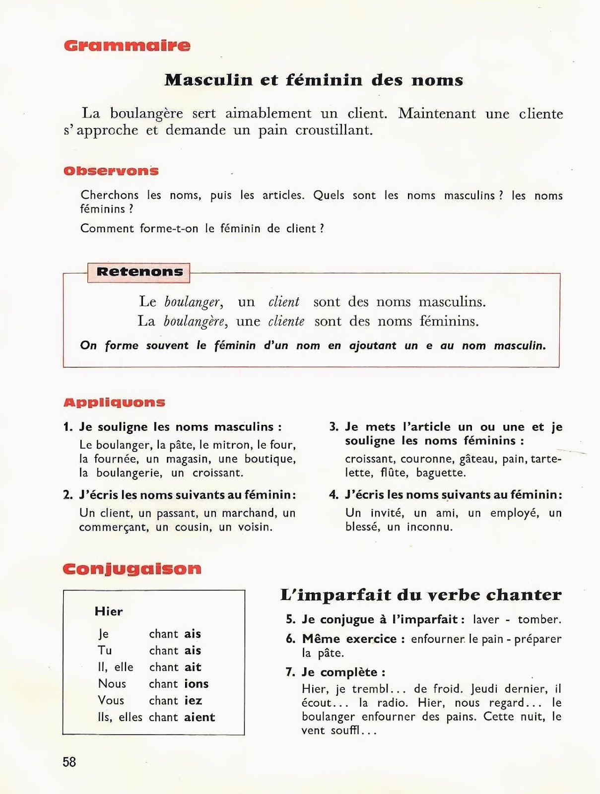 Toraille A La Conquete De Notre Langue Ce1 1965 Grandes Images En 2020 Ce1 Grammaire Nom Masculin
