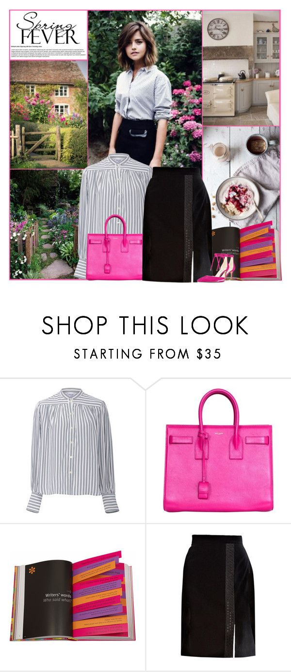 """""""Spring Fever"""" by kittyfantastica ❤ liked on Polyvore featuring Coleman, Frame, Yves Saint Laurent, Assouline Publishing, Brooks Brothers, Nine West, kitchen and country"""