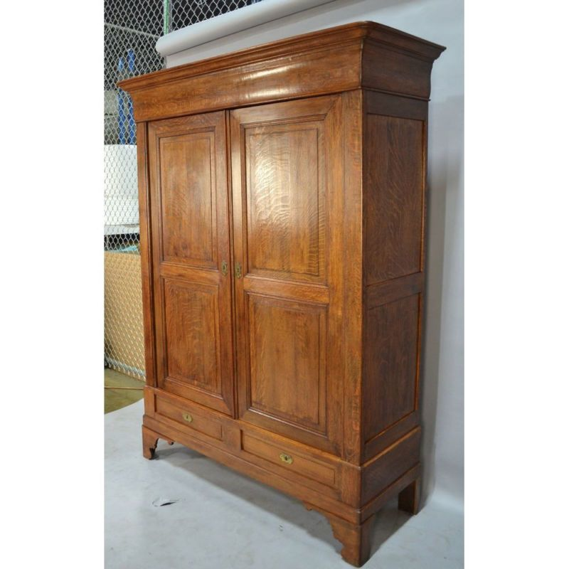 country style bedroom armoire Antique oak french french country louis philippe armoire wardrobe, ca. 1900 | Armoire wardrobe