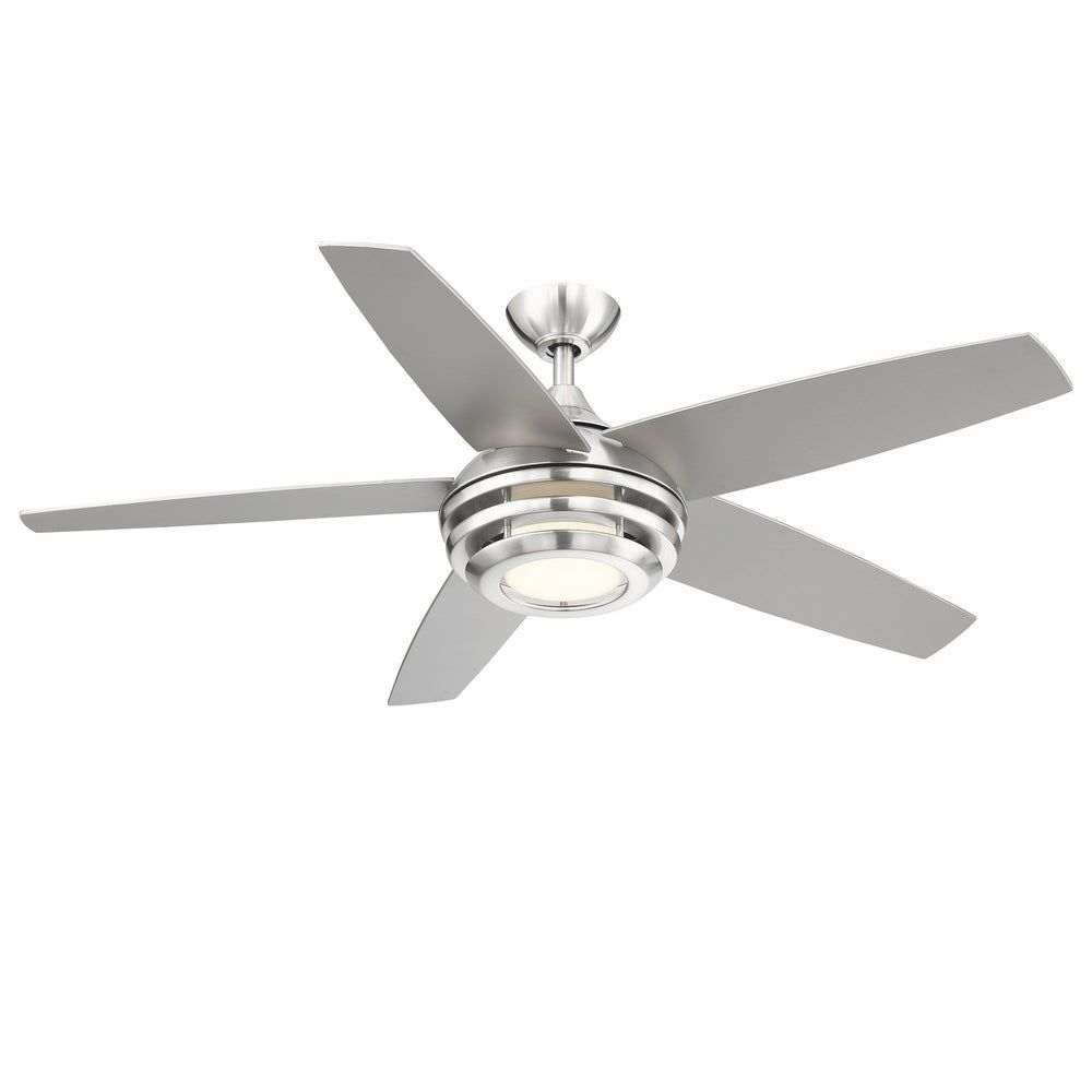 Eglo Petani 5 Blade Brushed Nickel Ceiling Fan With Integrated Led