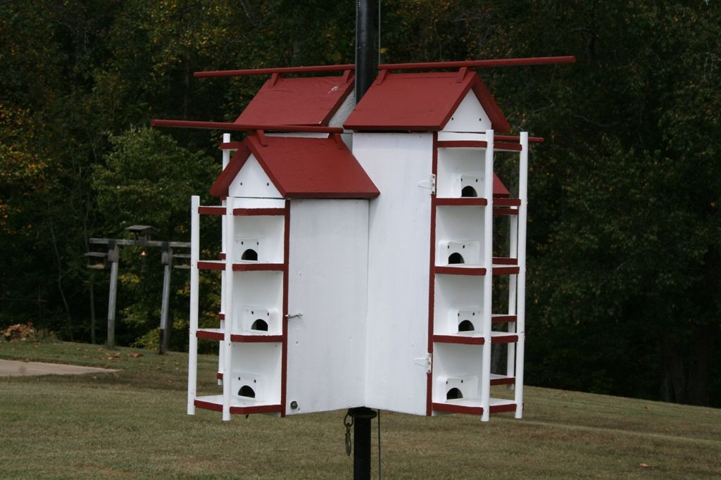 T14 Purple Martin House W Owl Guard Site Has Access To Starling Resistant Door Website For 1 00 Purple Martin House Martin House Bird Houses