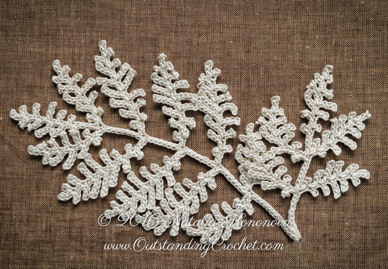 Irish Crochet Applique PATTERN - Poppy Flower with Fern - Leaf Lace Motif - Fiber Art - Home Wall Decor - PDF #decorateshop