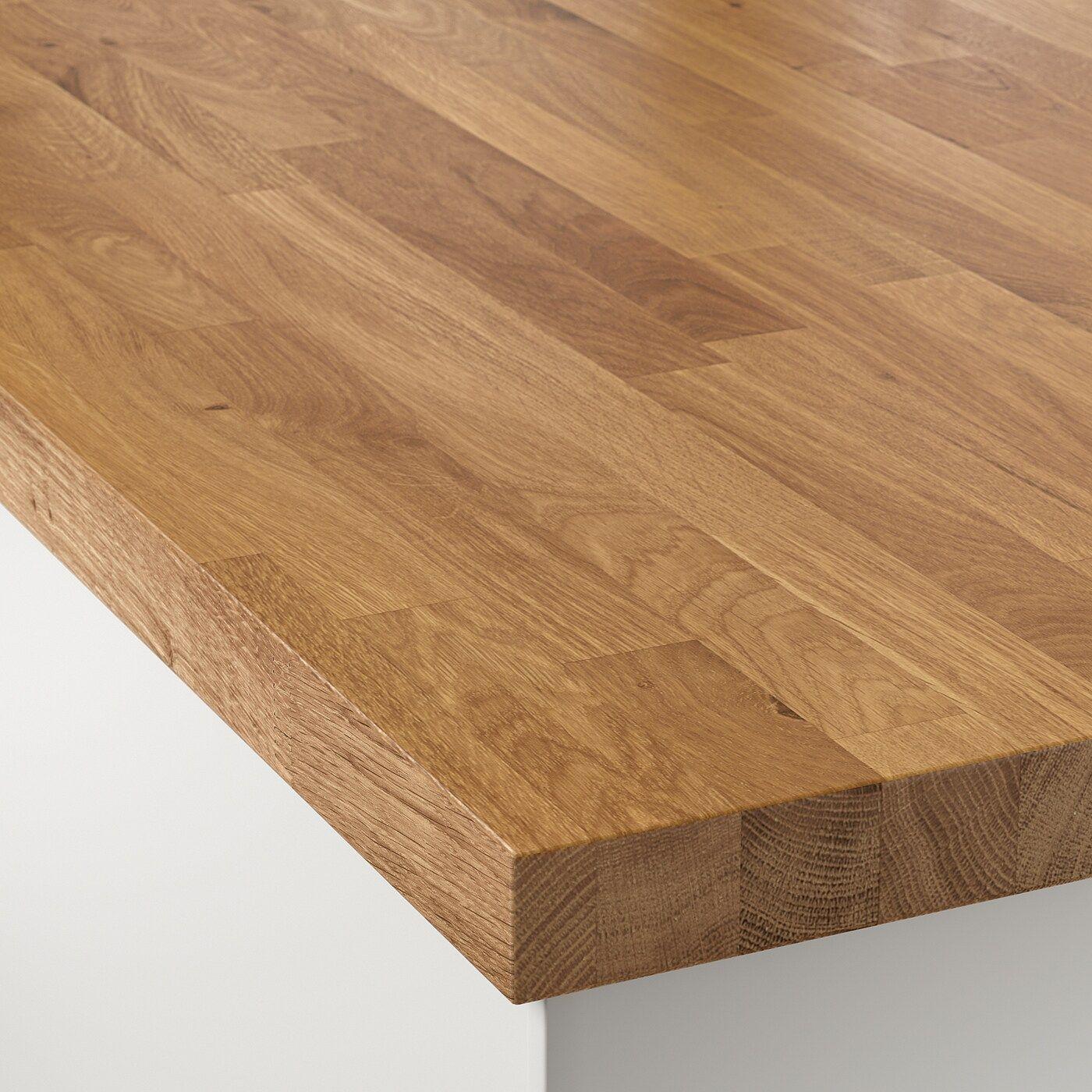 Skogarp Massarbeitsplatte Eiche Massivholz Ikea Osterreich In 2020 Holz Eiche Und Ikea