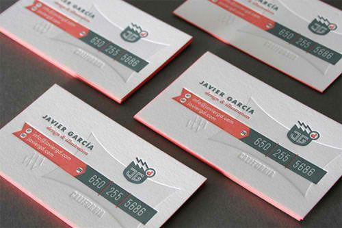 30 Spectacular Edge Painted Business Cards Naldz Graphics Edge Painted Business Cards Letterpress Business Cards Business Cards Creative
