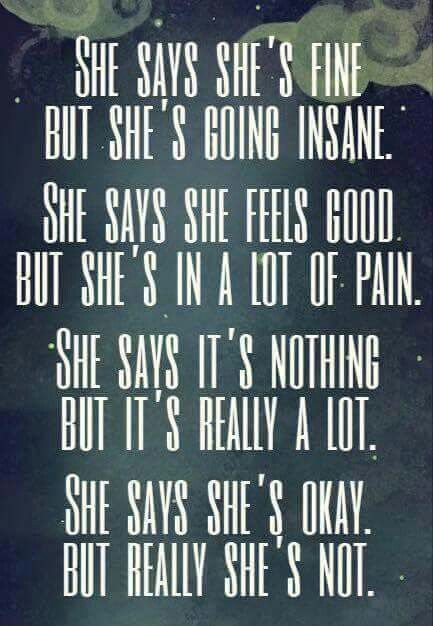 She says she's okay
