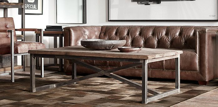 Salvaged Boatwood Coffee Table | Restoration Hardware | Coffee .