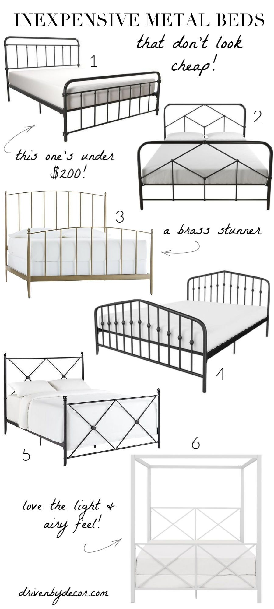 cheap metal bed frame on my favorite inexpensive beds that don t look cheap driven by decor metal beds iron metal bed iron bed pinterest