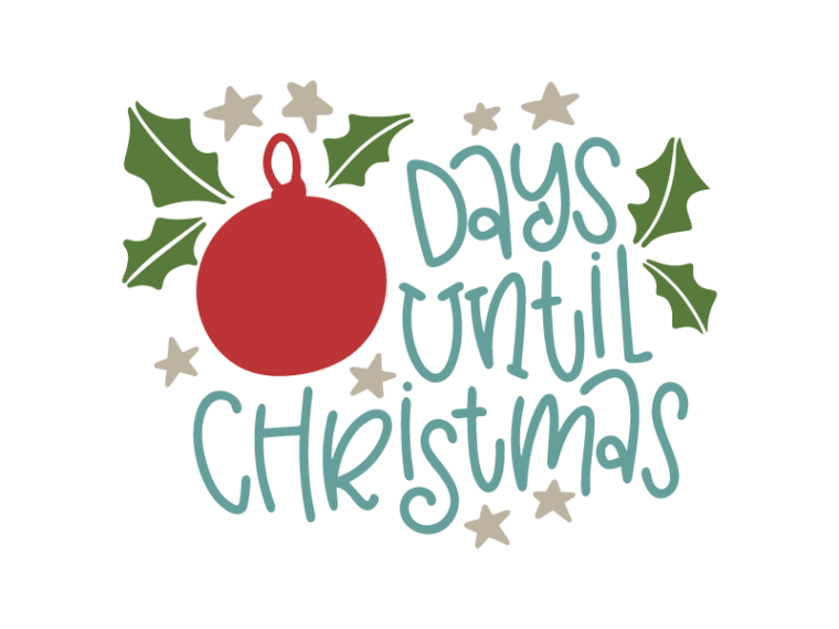 Download Free Days until Christmas SVG DXF PNG & JPEG | Christmas ...