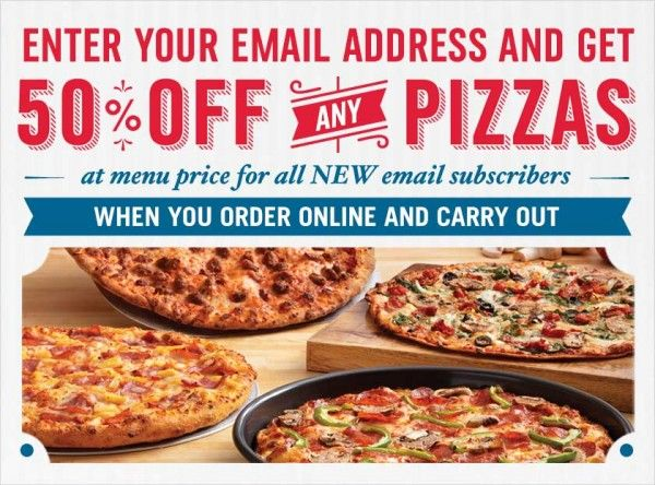 Domino S Pizza 50 Off Any Pizza Purchase With Newsletter Signup