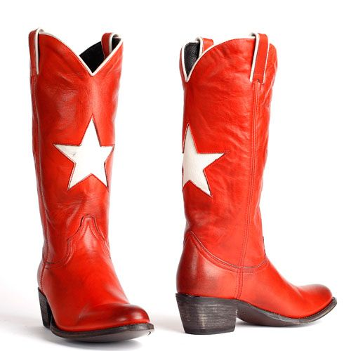 Sendra cowboylaarzen ster rood 13104 Cowboylaarzen, Rode