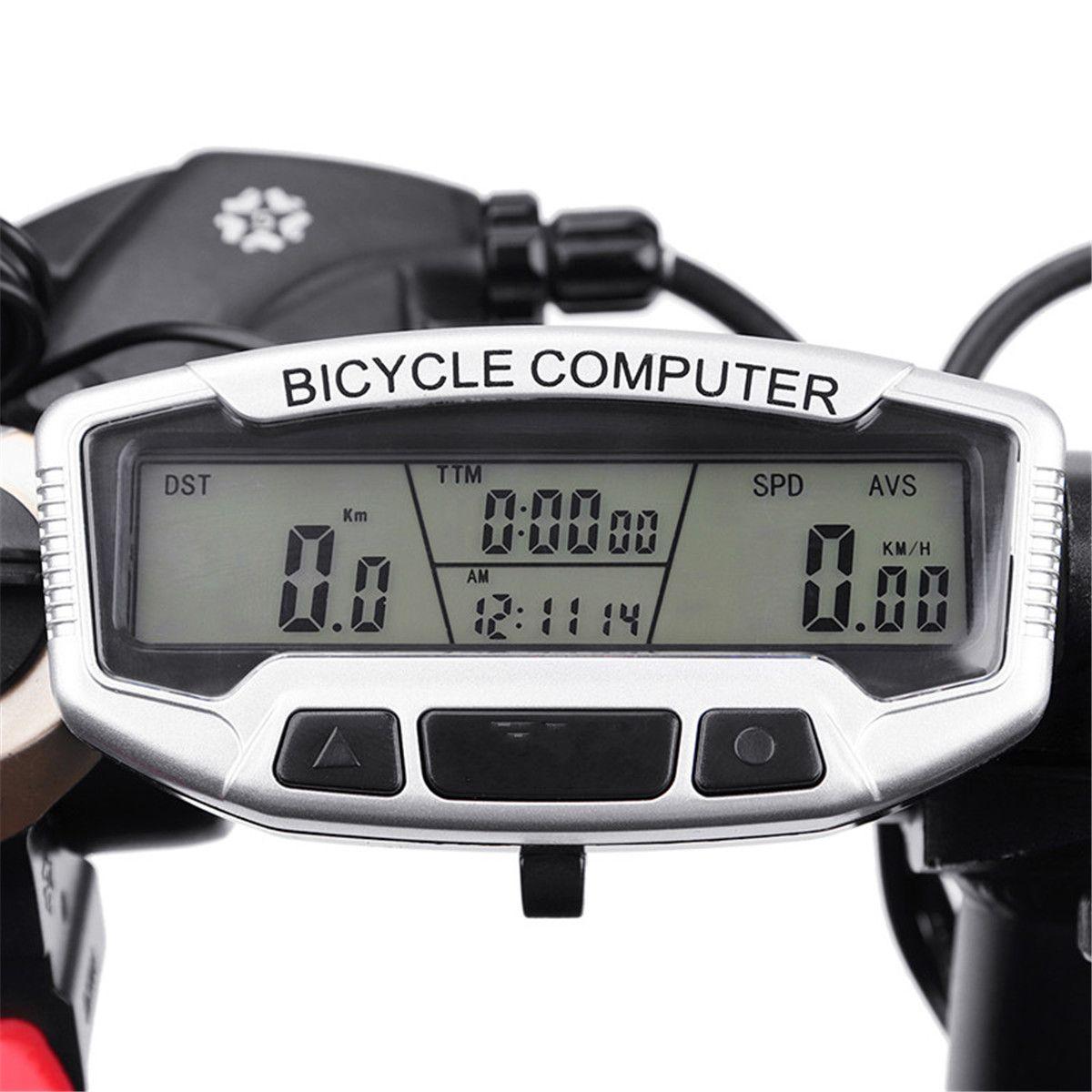 Sunding Wireless Waterproof Lcd Bicycle Bike Cycling Computer