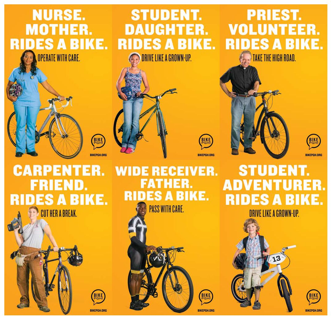 Drive With Care Bike Cyclist Bicycle