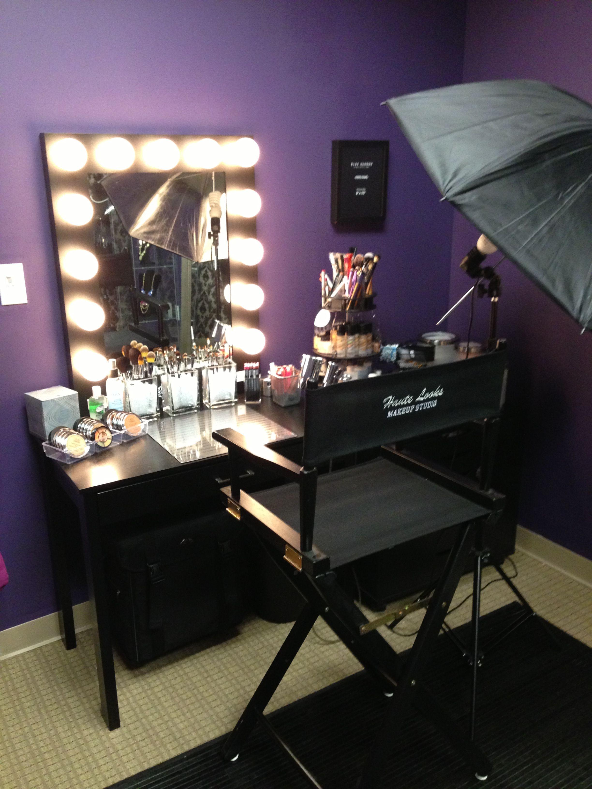 Makeup studio Makeup studio, Artist studio decor, Makeup